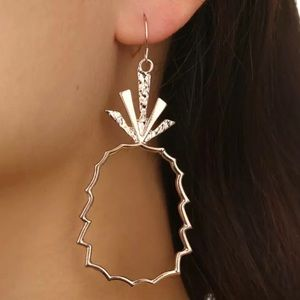 Gold pineapple earrings NEW boho style